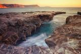 Sunrise on the beach Playazo in the Natural Park of Cabo de Gata, Almeria, Spain