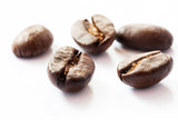 Coffee beans on white background