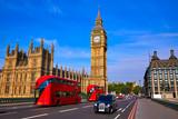 Big Ben Clock Tower and London Bus - 135613354