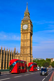 Big Ben Clock Tower and London Bus - 135613366