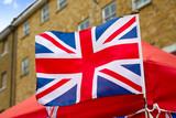 London Portobello road Market UK flag