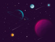 Space background. Vector illustration - 135621912