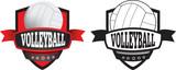 volleyball club, logo, shield or badge