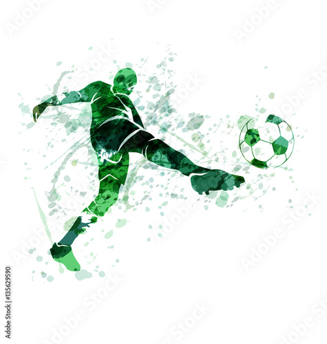 illustration of a football player with the ball