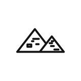 Egyptian pyramid icon.