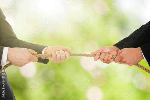 Poster Two Businessman Pulling Rope
