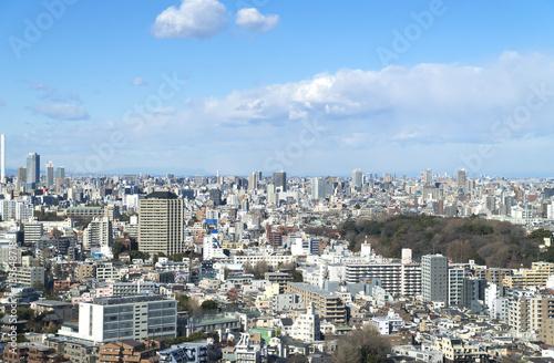 Foto op Plexiglas Japan 東京都市風景 都心の街並 上野 青空と雲 池袋 大塚 巣鴨 護国寺 田端方面