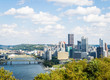 Dramatic Skyline of Downtown above the Monongahela River in Pitt