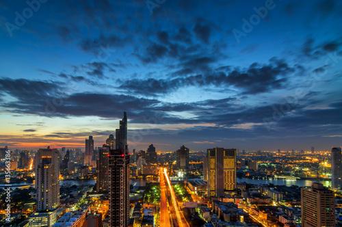 Poster Bangkok morning view