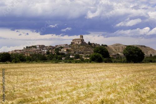 Village of Agon, Zaragoz province, Aragon, Spain
