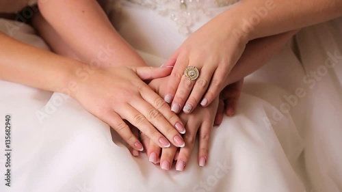 hands of the bride and bridesmaids © vincent20044