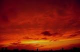 燃え上がるような夕景