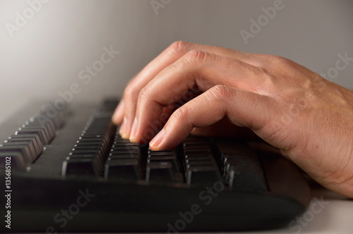 Poster using a computer keyboard