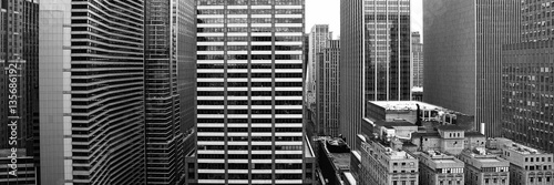 New York City in black and white - 135686192