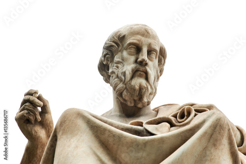 Deurstickers Athene Statue of Plato in Athens.