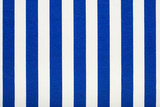 Blue and white striped fabric background