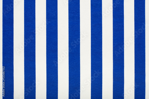 Blue and white striped fabric background Poster