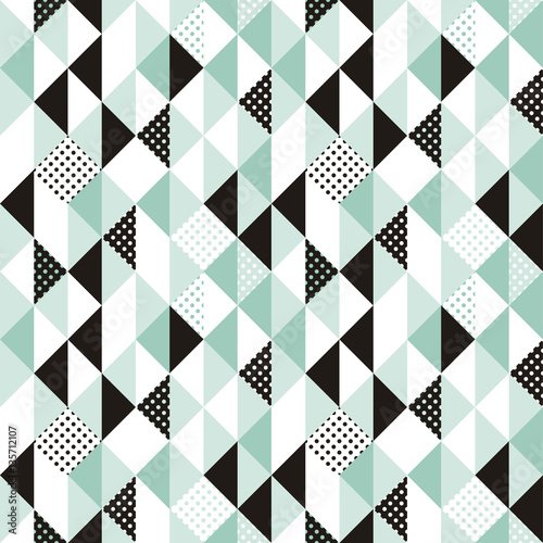 Vector abstract seamless pattern in trendy modern minimal style - 135712107