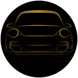 Sport car illustration in black colour.