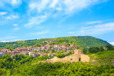 A beautiful view of the fortress of Veliko Tarnovo, Bulgaria on a sunny summer day