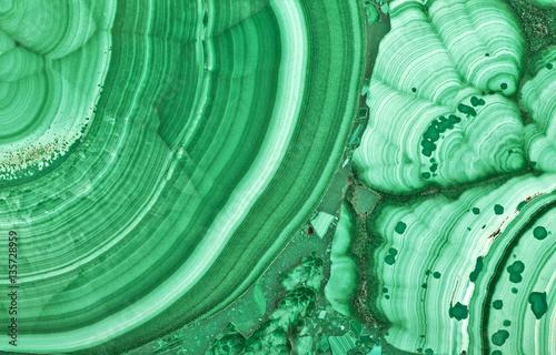 green malachite beautiful texture macro - 135728959