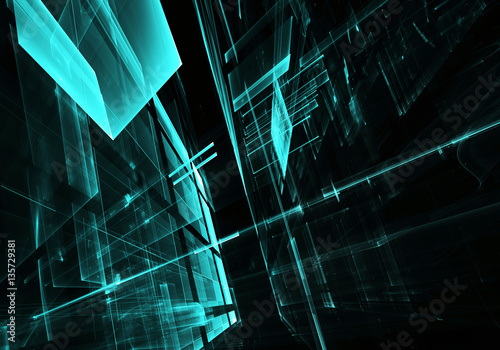 abstract fractal background - 135729381