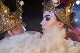 Women in carnival costumes