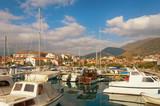 Fishing boats in harbor. Marina Kalimanj  in Tivat, Montenegro