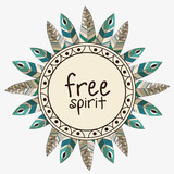 free spirit boho style vector illustration design