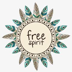 free spirit boho style vector illustration design