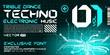 Постер, плакат: hi tech Techno font trance style lettering vector