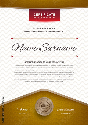 Certificate Template With Luxury Black And Golden Elegant Pattern