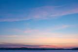 Serene sunset sky at winter - 135771556