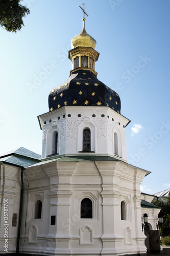 Poster white golden Ukraine orthodox St Sophia church detail