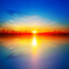 abstract background with sunset in Tallinn
