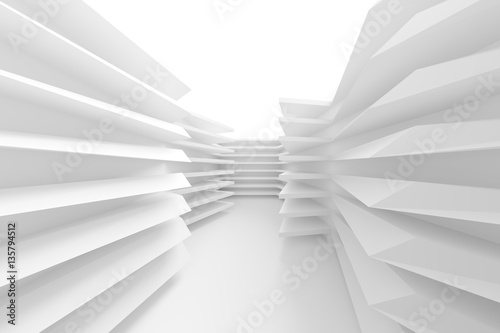 3d Illustration of Modern Building Construction