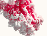Fototapety White and red ink splash. Abstract background