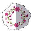 Beautiful flowers ornament icon vector illustration graphic design