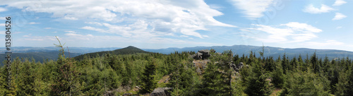 panorama of Izerskie and Karkonosze Mountains in Poland