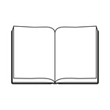 Blank book isolated icon vector illustration graphic design