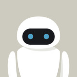 Bot Chatbot Robot In  Wall Sticker