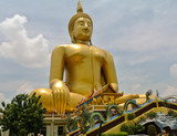 The biggest Buddha statue in the world at Wat Muang in Ang Thong province Thailand.