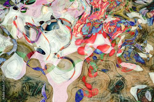 Fototapeta samoprzylepna Abstract background - play of colors and lines