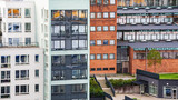 modern apartment houses in Stockholm