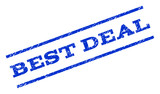 Best Deal watermark stamp. Text tag between parallel lines with grunge design style. Rotated rubber seal stamp with scratched texture. Vector blue ink imprint on a white background.