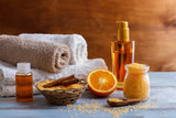 Spa setting and health care items - 135859560
