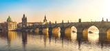 Sunset at Charles Bridge Panorama, Prague