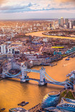 Tower Bridge, view from the Shard, London, UK - 135867749
