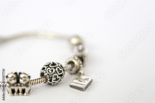 Poster Silver beads and charms Pandora