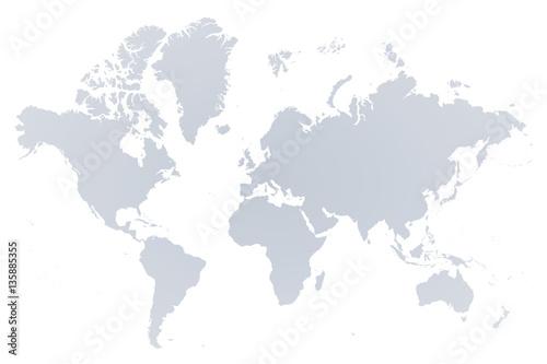 Aluminium Wereldkaarten 世界地図 ヨーロッパ